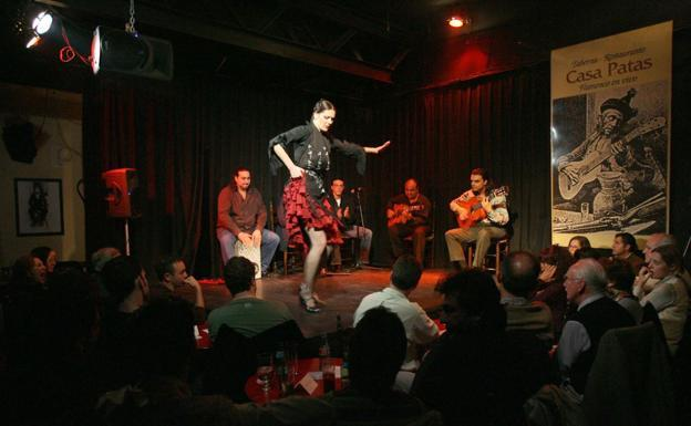 Actuación de flamenco en un local de Madrid. / Archivo/