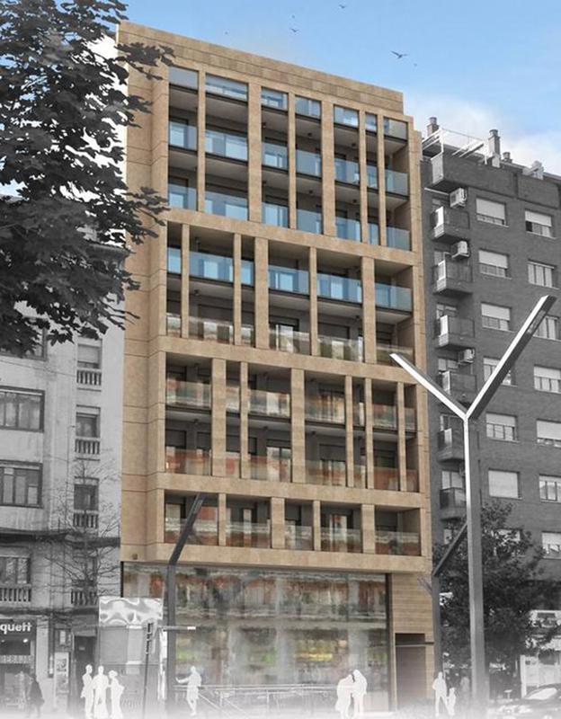 Empieza en gran v a 31 la construcci n de 28 pisos de for Pisos caixabank