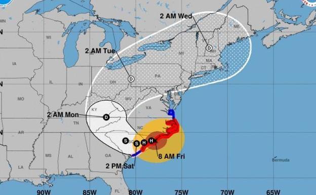 El huracán Florence visto desde adentro: una simulación muestra sus terribles efectos