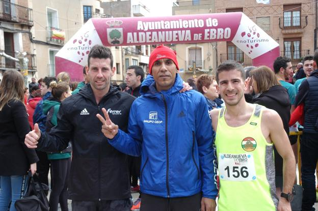 Ganadores absolutos. Eric, Hicham y David/