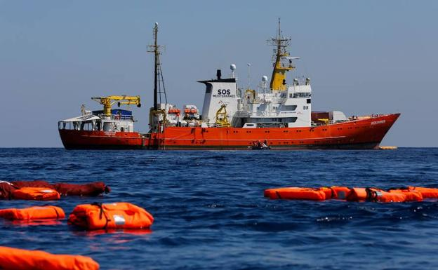 El buque de rescate Aquarius./Afp