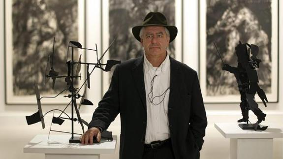 El artista surafricano William Kentridge, en el Centro de Arte Contemporáneo de Málaga./