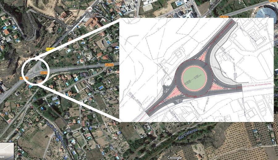 La nueva rotonda en Arnedo aumentará la seguridad vial hacia el alto ...